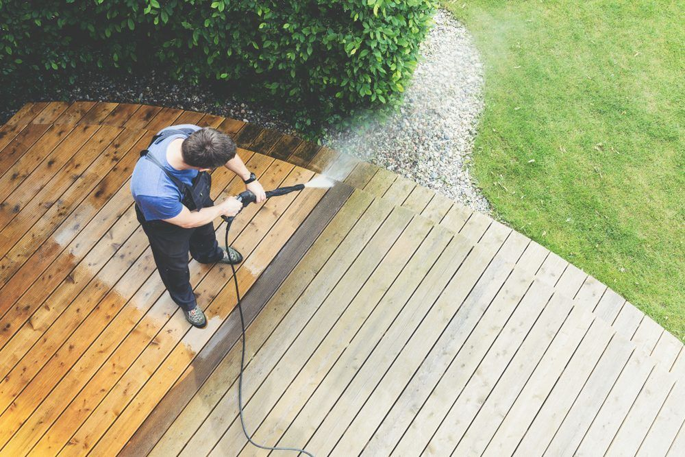 Cleaning the Patio