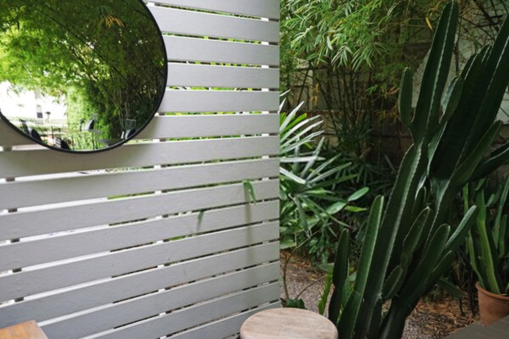 Patio with Custom Mirrors