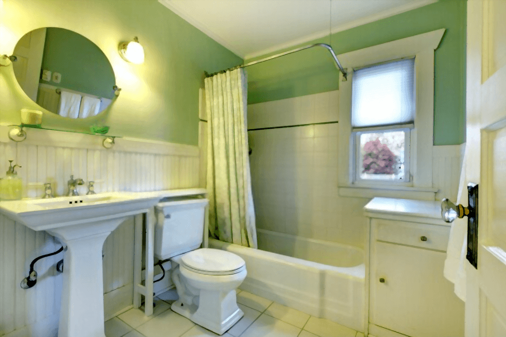 Inside the tub