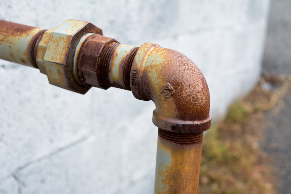 Rust Around The Outside Of Pipes