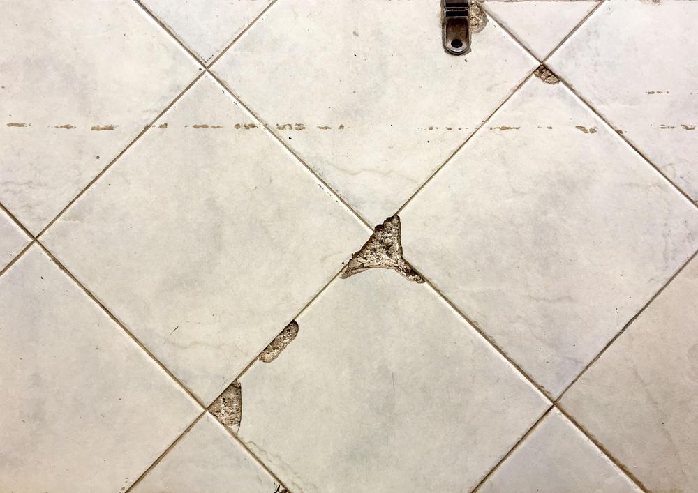 Bathroom tile crack