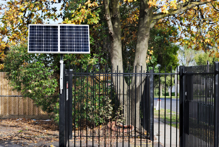 how to make entrance with solar power