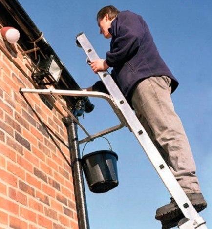 Ladder Standoff work
